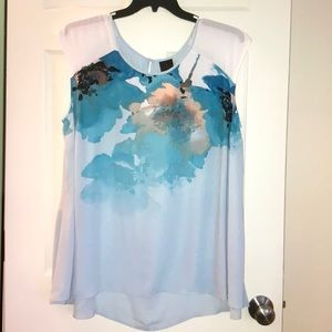 Plus size 2x Top multi color 100%polyester NWT